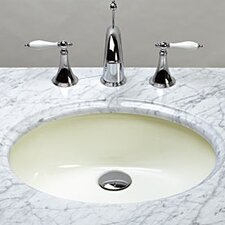 Oval Undermount Ceramic Bathroom Sink with Overflow