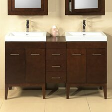 "Modular Venus 58"" Double Bathroom Vanity Set"