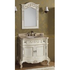"Vintage Bordeaux 38"" Bathroom Vanity Set"