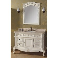 "Vintage Bordeaux 48"" Bathroom Vanity Set"