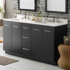 "Arden 60.56"" Double Bathroom Vanity Set"
