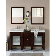 "Contempo 60"" Devon Bathroom Vanity Set"