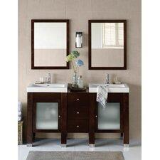 "Contempo 60"" Double Bathroom Vanity Set"