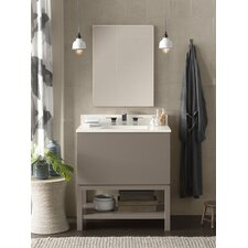 "Contempo Jenna 31"" W Wood Blush Taupe Cabinet Vanity Set"