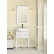 "Neo-Classic Angelica 23 23"" W Wood White Cabinet Vanity Set with Solid White Vanity Top"