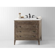 "Laurel 36"" Wood Cabinet Vanity Set"