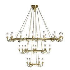 <strong>Lamp International</strong> Age 18 Light / Gold Leaf Chandelier