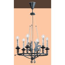 Firenze Six Light Chandelier