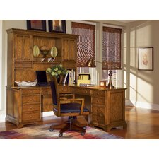 Halton Hills L-Shape Executive Desk with Hutch