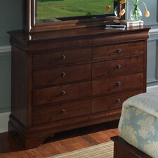 Chateau Royal 10 Drawer Bureau Dresser