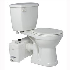 <strong>Saniflo</strong> 1.6 GPF Elongated 2 Piece Toilet