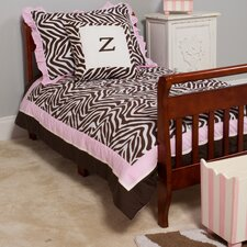 Zara Zebra 4 Piece Toddler Bedding Set