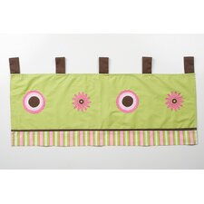 Sophia's Garden Cotton Tab Top Tailored Curtain Valance