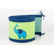 ZigZag Elephant Crib Bumper