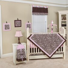 Zara Zebra 10 Piece Crib Bedding Set