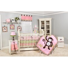 Jolly Molly Monkey Crib Bedding Collection