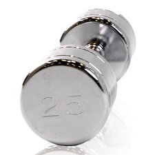 Chromed Dumbbell with Contoured Handle