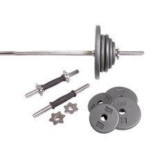 Regular Grey 110 lb Weight Set with Threaded Ends