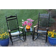 <strong>Dixie Seating Company</strong> 2 Adult Rocking Chairs & Table