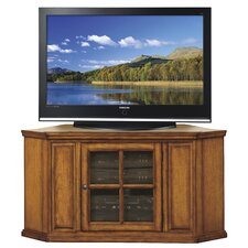 "46"" Corner Plasma TV Stand in Burnished Oak"