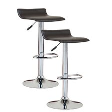 Favorite Finds Adjustable Swivel Bar Stool with Cushion (Set of 2)
