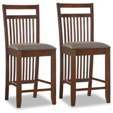 Slat Back Counter Stool (Set of 2)