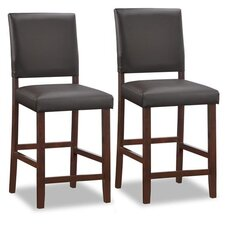 "Back 24"" Bar Stool (Set of 2)"