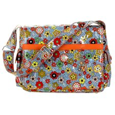 Padded Multitasker Floral Swirl Messenger Bag
