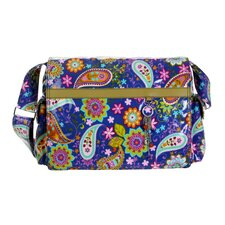 Padded Multitasker Cobalt Paisley Messenger Bag