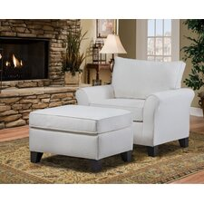 Belle Meade Arm Chair and Ottoman