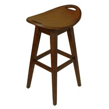 "Thoroughbred 32"" Backless Swivel Bar Stool in Cherry"