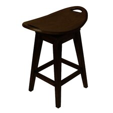 "Thoroughbred 26.75"" Backless Swivel Counter Stool in Espresso"
