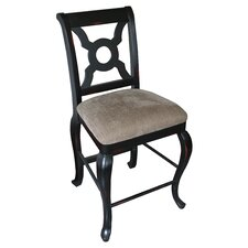 English Bar Stool with Cushion (Set of 2)