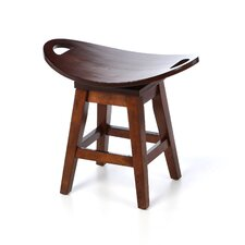 "Thoroughbred 20"" Backless Swivel Stool in Cherry"