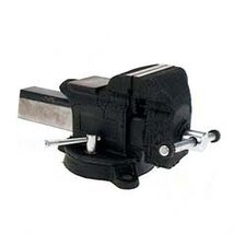"<strong>Adjustable Clamp</strong> 4"" Heavy-Duty Steel Bench Vise  30404"