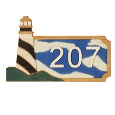 Lighthouse Wall Address Plaque