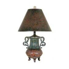 """Two Handled Urn 19"""" H Table Lamp with Bell Shade"""