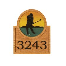 Golf Wall Address Plaque