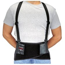 Bodybelts - medium black bodybelt back support w/non-remov