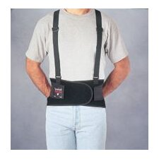 "Spanbak® Black 9"" Back Support W/Suspenders Size Medium 36"" To 40"""