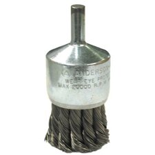 "Knot Wire End Brushes-NH Series-Hollow End-Swaged Cup - nh12 1-1/8"" .014 knot end brush hollow end"