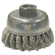"Knot Wire Cup Brushes For Small Angle Grinders-US & USC Series - us80 2-3/4"" .0118 knotted cup brush w/5/8-11 th"