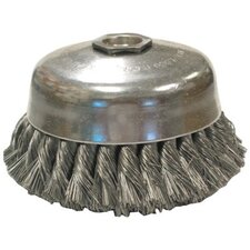 "Knot Wire Cup Brushes-Single Row-US Series - jusc1-.020 4""dia knot cup brush"