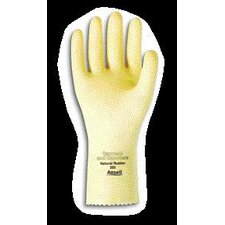 "10 Canners And Handlers™ Medium Duty Natural Unsupported 20 Mil Natural Latex Unlined 12"" Glove With Pebble Embossed Grip & Pinked Cuff"