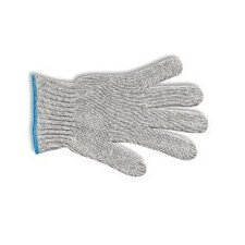7 Gray MultiKnit™ Medium Weight Polyester/Cotton String Gloves With Knit Wrist