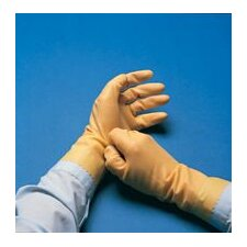 "10 Technicians™ Light Duty Natural Unsupported 13 Mil Neoprene/Natural Latex Unlined 12"" Glove With Pebble Embossed Grip & Pinked Cuff"