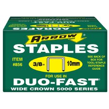 "5,000 Count 3/8"" X 1/2"" Duo Fast® Staples  856"