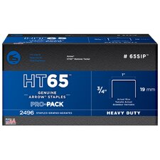 "2,496 Count 3/4"" HT65™ 65SIP™ Pro Pack Heavy Duty Staples"