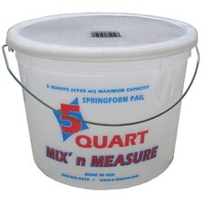 5 Quart Mix'n Measure Pail With Wire Handle 05165-300411