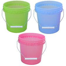 41 Gallon Plastic Translucent Pails 11128-200388